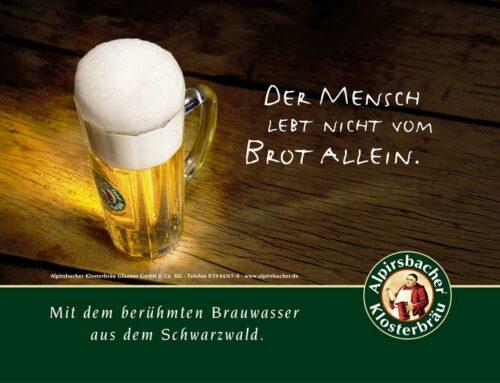 Alpirsbacher Klosterbräu: Marken- und Produktplakate